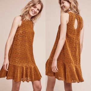 Anthropologie Maeve Amis Velvet Lace Dress Size 10